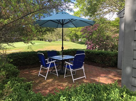 New Seabury, Mashpee New Seabury vacation rental - The view of your patio and the golf course.