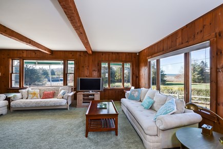 Falmouth Cape Cod vacation rental - Living Room with picture windows views!