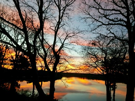 South Dennis Cape Cod vacation rental - Fall Sunset on Follins Bay