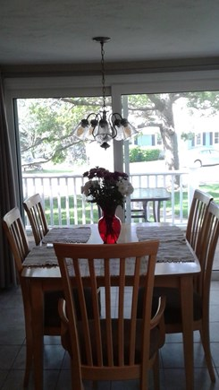 South Dennis Cape Cod vacation rental - Dining Room with 6 chairs