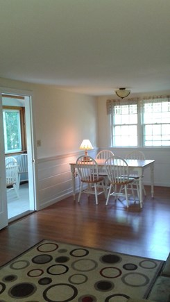 South Dennis Cape Cod vacation rental - Dining Room - Sun porch on left