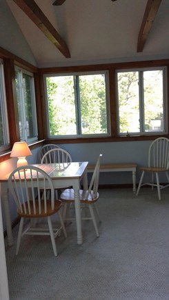 South Dennis Cape Cod vacation rental - Sun Porch - enjoy your morning coffee