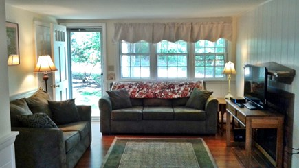 South Dennis Cape Cod vacation rental - Living Room, love seat, full couch, HD Flat TV Wifi