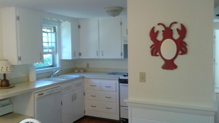 South Dennis Cape Cod vacation rental - Kitchen - gas stove, dishwasher fridge, & microwave