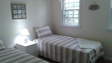 South Dennis Cape Cod vacation rental - Front Bedroom two new twin beds