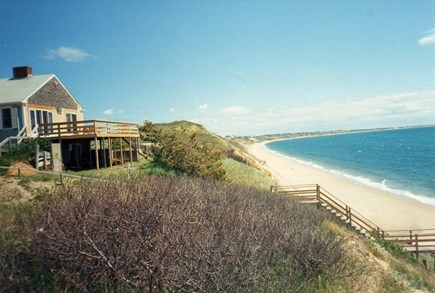 Truro Cape Cod vacation rental - Beach House. A dip in dune ridge,with truly moderate beach steps