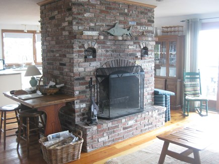 Truro Cape Cod vacation rental - Fireplace