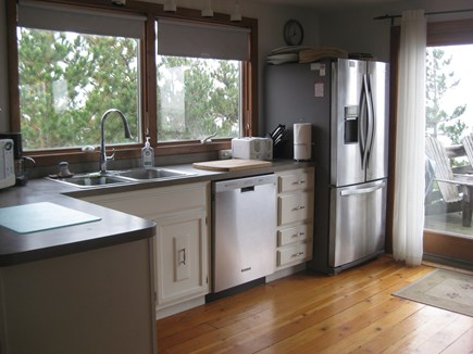 Truro Cape Cod vacation rental - Kitchen with water views