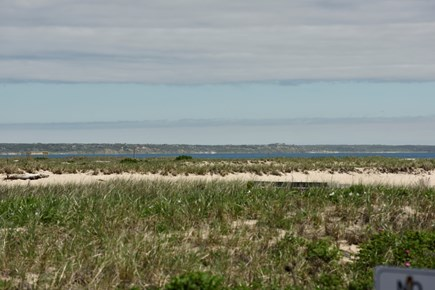 Provincetown Cape Cod vacation rental - View of Truro towards Wellfleet from the front deck.