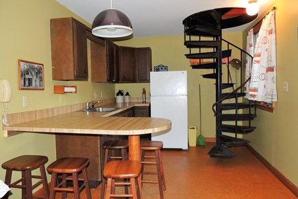 Harwich Port Cape Cod vacation rental - Spiral Staircase leading To bunkbeds