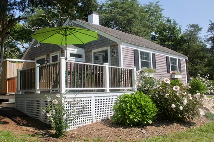 Brewster Cape Cod vacation rental - Front View of Private Free-Standing Cottage with Parking Area