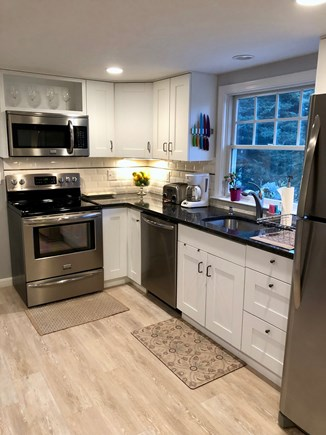 Brewster Cape Cod vacation rental - Modern Kitchen Boasts Stainless Appliances & Granite Counter tops