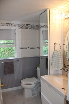 Brewster Cape Cod vacation rental - Bathroom with Full Tub/Shower - Gorgeous Beadboard and Tile