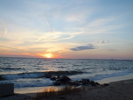 North Truro Cape Cod vacation rental - Sunset From Private Beach