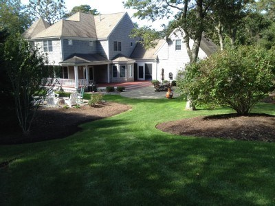 East Dennis Cape Cod vacation rental - Nicely landscaped back yard and patio
