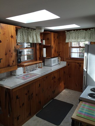 Wellfleet Cape Cod vacation rental - Galley kitchen with skylights