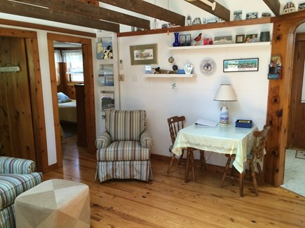 Wellfleet Cape Cod vacation rental - Living room and small dining area