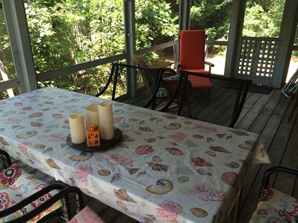 Wellfleet Cape Cod vacation rental - The screened porch