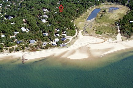 Wellfleet Cape Cod vacation rental - 2/10 mile to beautiful, bayside Burton Baker Beach!