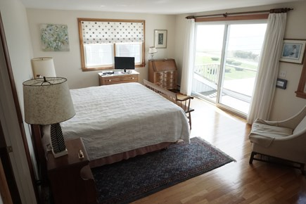 Pocasset Pocasset vacation rental - Master bedroom with king and glass doors to waterview balcony