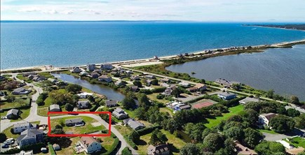 Surf Drive Beach, Falmouth Cape Cod vacation rental - Arial photo of home location
