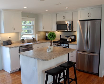 Falmouth Cape Cod vacation rental - View of kitchen from living area