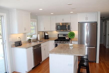 Surf Drive Beach, Falmouth Cape Cod vacation rental - View of kitchen from side entrance