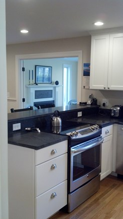 Yarmouth Port Cape Cod vacation rental - Kitchen with view to sun room