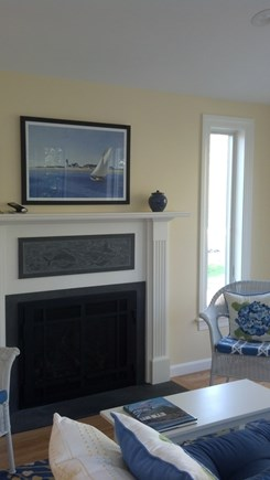 Yarmouth Port Cape Cod vacation rental - Sun room with gas fireplace