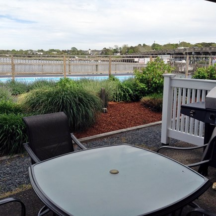 South Yarmouth Cape Cod vacation rental - Patio with patio set & gas grille