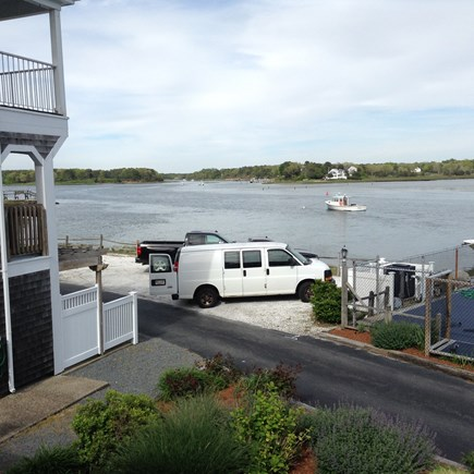 South Yarmouth Cape Cod vacation rental - Upper deck with view of Bass River & Bass River Golf Club to left