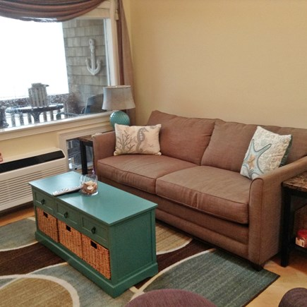 South Yarmouth Cape Cod vacation rental - Living room with pull out air bed