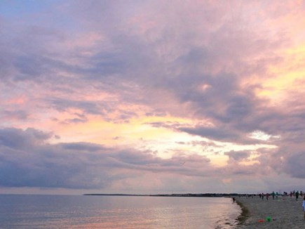 West Dennis Cape Cod vacation rental - Beautiful sunset on Nantucket Sound.