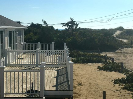 West Dennis Cape Cod vacation rental - Cottage deck and path to beach.