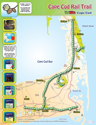 Hyannis Cape Cod vacation rental - Cape Cod Rail Trail is even better in the fall.
