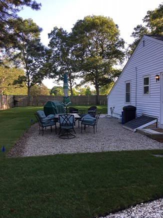 West Yarmouth Cape Cod vacation rental - Outdoor eating area with gas grill