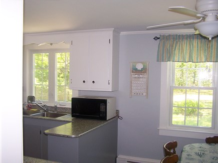 West Yarmouth Cape Cod vacation rental - Kitchen has stove, microwave & new refrigerator