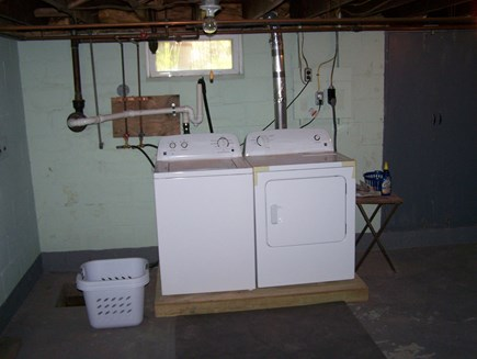 West Yarmouth Cape Cod vacation rental - Basement laundry for your use