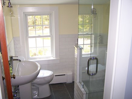 West Yarmouth Cape Cod vacation rental - Lovely remodeled upstairs bathroom with glass shower