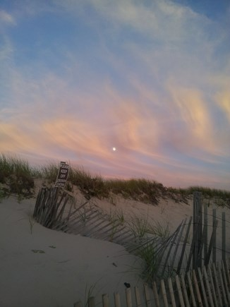 Brewster Cape Cod vacation rental - Moon rising in a pastel sky over Sea Street Beach