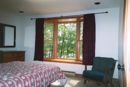 Brewster Cape Cod vacation rental - Queen size bed with Bay Window overlooking the pond.
