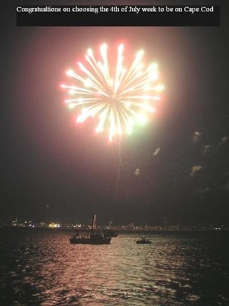 Brewster Cape Cod vacation rental - Fourth of July fireworks over Lewis Bay in Hyannis