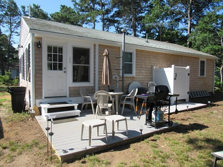 South Dennis Cape Cod vacation rental - Back deck and shower