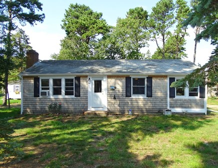South Dennis Cape Cod vacation rental - Front of house with spacious lot
