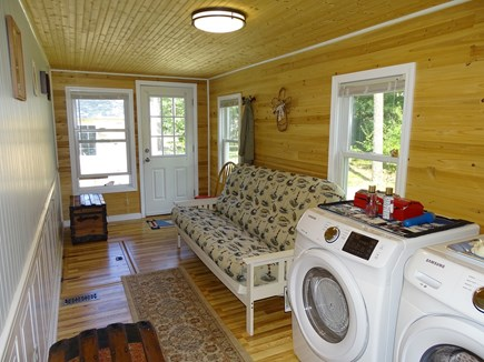 South Dennis Cape Cod vacation rental - Newly built sun room with futon, laundry area