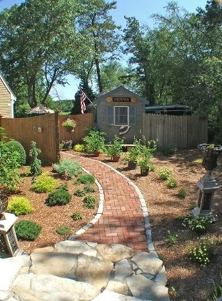 Dennisport Cape Cod vacation rental - Your path to one of your yards. Biggest problem is where' to sit