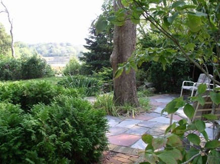 Dennisport Cape Cod vacation rental - YOU'RE kidding! ANOTHER patio (next to man made koi pond/falls)