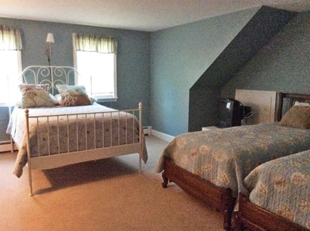 Falmouth, Maravista Cape Cod vacation rental - Upstairs bedroom with 1 queen and 2 twins