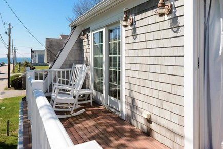Falmouth Heights Cape Cod vacation rental - Upper porch with ocean views