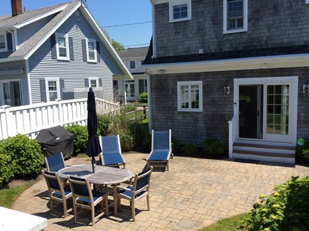 Falmouth Heights Cape Cod vacation rental - Back yard with gas grill and outdoor shower